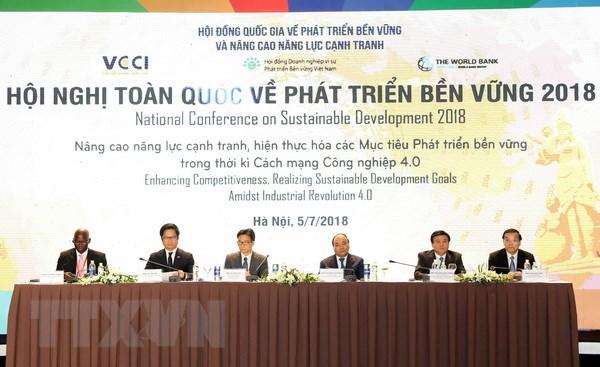 Thủ tướng Nguyễn Xuân Phúc và các đại biểu tại hội nghị. Ảnh: Thống Nhất/TTXVN
