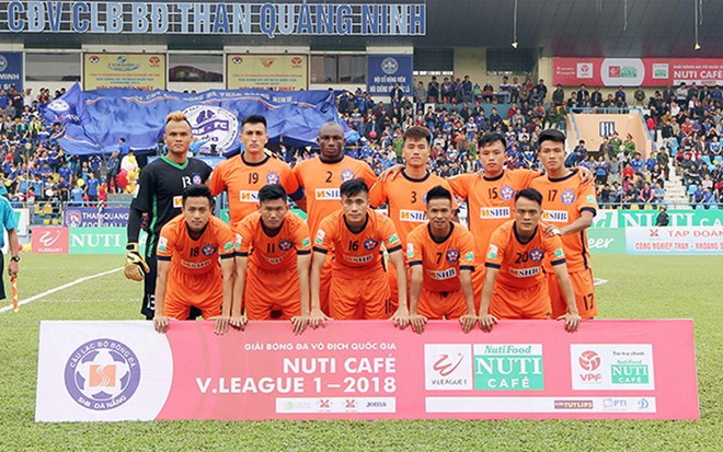 Các cầu thủ SHB Đà Nẵng. (Nguồn: vnleague)