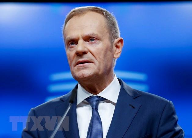 Chủ tịch Hội đồng châu Âu Donald Tusk. (Ảnh: THX/TTXVN)