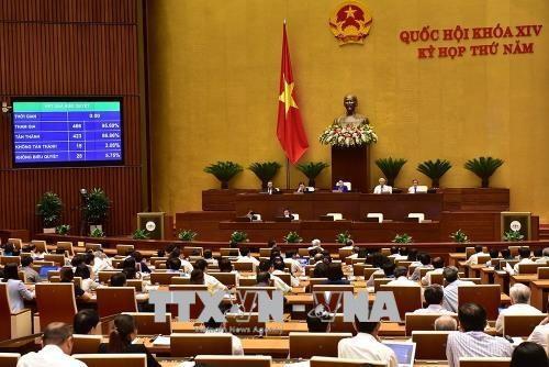 Quốc hội biểu quyết tán thành thông qua Luật An ninh mạng