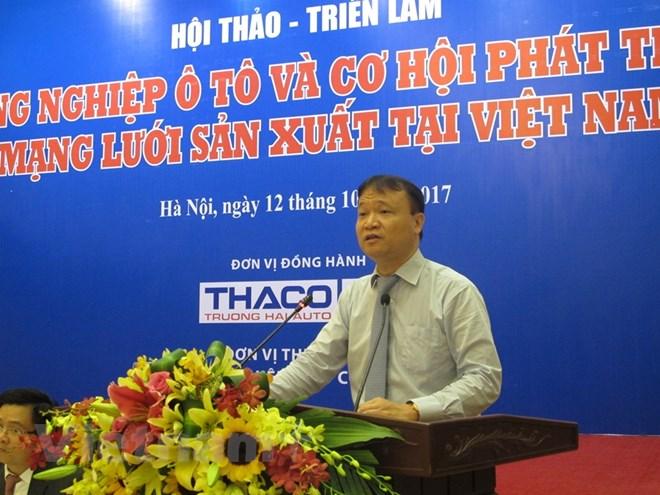 Thứ trưởng Bộ Công Thương Đỗ Thắng Hải phát biểu ý kiến. (Ảnh: Đức Duy/Vietnam+)