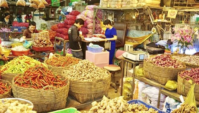 Chợ đầu mối Bình Điền, Thành phố Hồ Chí Minh. (Ảnh minh họa. Nguồn: TTXVN)