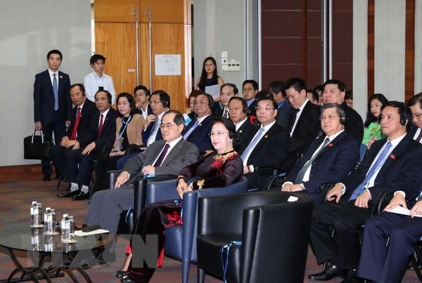 Chủ tịch Quốc hội Nguyễn Thị Kim Ngân dự diễn đàn. (Ảnh: Trọng Đức/TTXVN)