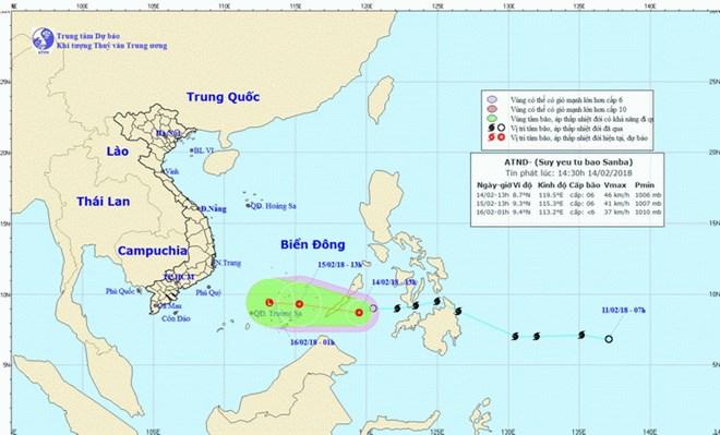 Áp thấp nhiệt đới di chuyển theo hướng Tây, mỗi giờ đi được 15-20km - ảnh 1