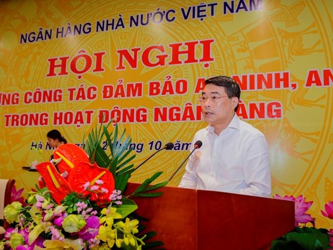 Thống đốc Ngân hàng Nhà nước Lê Minh Hưng chỉ đạo tại hội nghị. (Nguồn: Ngân hàng Nhà nước)
