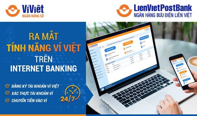 LienVietPostBank ra mắt tính năng Ví Việt trên Internet Banking - ảnh 1